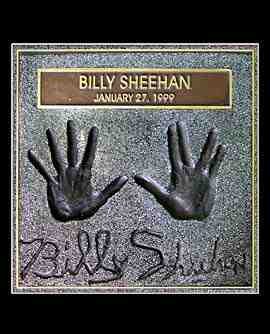 Billy Sheehan hand imprints on Hollywood's Rockwalk